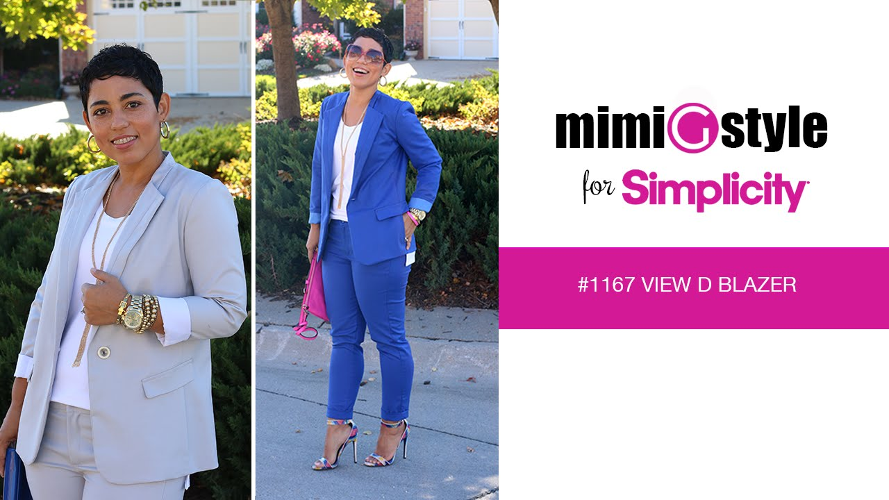 Mimi G Style For Simplicity Pattern 1167 Tutorial View D Blazer