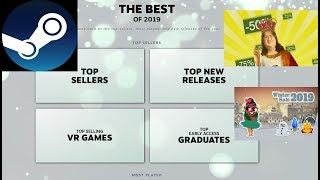 + The Best Selling Games on Steam in 2019 + Steam Winter Sale 2019 + Outlook +