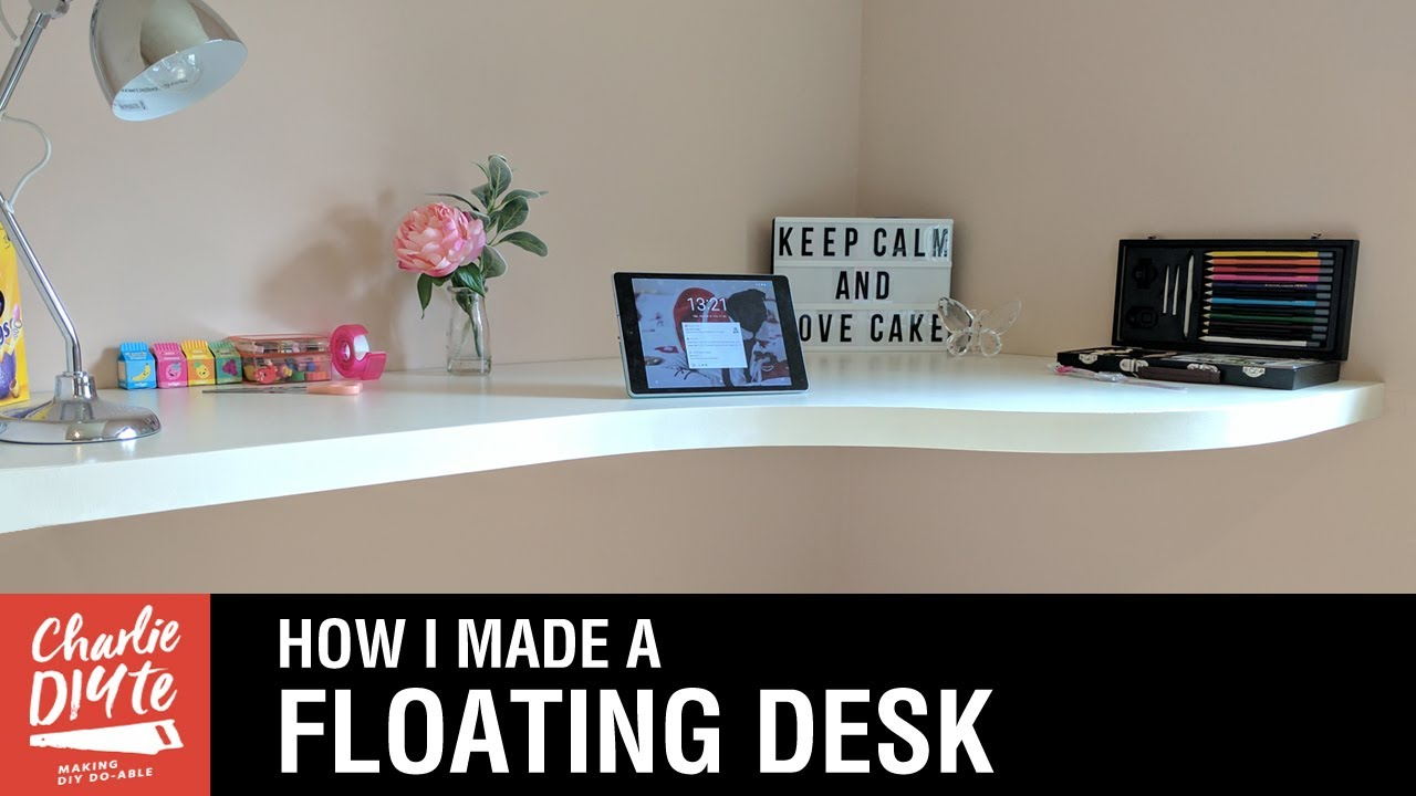 How To Make A Floating Desk Youtube