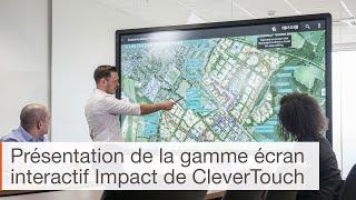 Fonctionnalités de l'écran interactif Clevertouch Impact