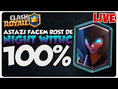 Astazi avem Night Witch 100% | Clash Royale LIVE