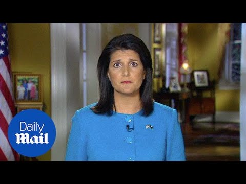 Nikki Haley urges US to ignore 'siren call' of 'angry' GOP - Daily Mail