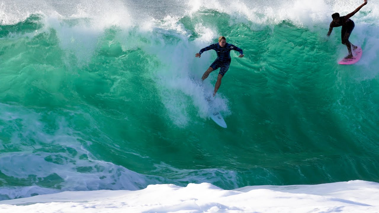 BIGGEST SWELL OF THE SUMMER AT KEIKI SHORE BREAK!