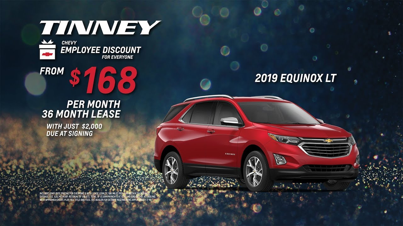 2019 Chevy Equinox - Employee Discount for Everyone Sales Event
