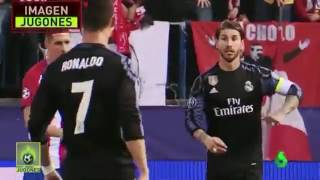 Sergio Ramos Signals To Cristiano Ronaldo About Trying To Sent Off Gabi!   Atletico M. vs Real M