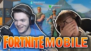 FORTNITE MOBILE #1 (Feat. Walt) - SUCH A NEWB!