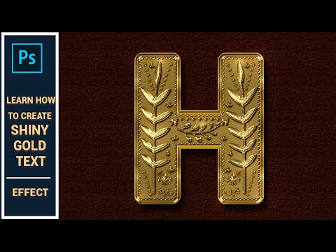Photoshop Tutorial  How to Create Decorative Shiny Gold Effect in Photoshop CC thumbnail