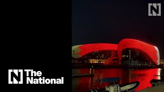 Abu Dhabi landmarks light up in celebration of Bahrain National Day