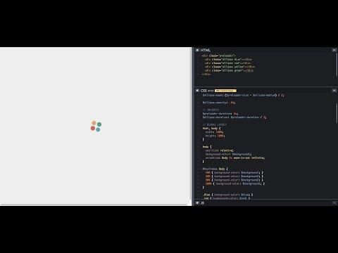 สอนสร้าง Loader ด้วย HTML + SCSS   CSS