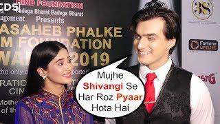 Mohsin Khan EXPRESSES His Love For GF Shivangi At Dadasabeh Phalke Awards 2019