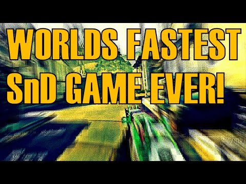 BLACK OPS 2Worlds Fastest SnD Game Ever100 WMSMC YouTube