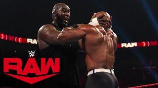 AJ Styles  Omos vs. Bobby Lashley  MVP Raw, Sept. 6, 2021