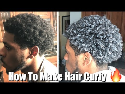 Men's Curly Hair Tutorial   How to Make Hair Curly