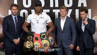 THE FULL ANTHONY JOSHUA VS ALEXANDER POVETKIN PRESS CONFERENCE & FACE OFF VIDEO