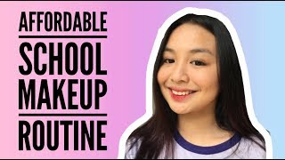 AFFORDABLE SCHOOL MAKEUP ROUTINE | Claire Fabian