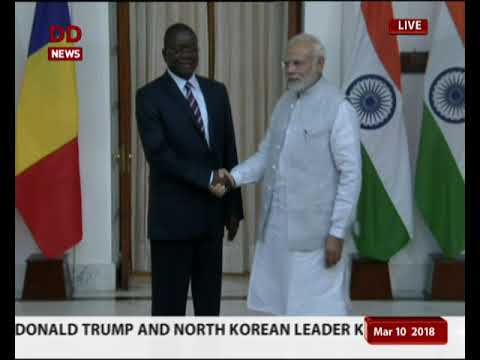 PM Modi holds bilateral talks with PM of Republic of Chad lbert Pahimi Padacke