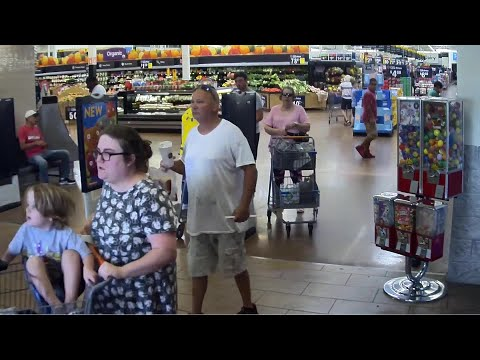 Fast Freddie - Man drives golf cart inside Walmart, hitting customers