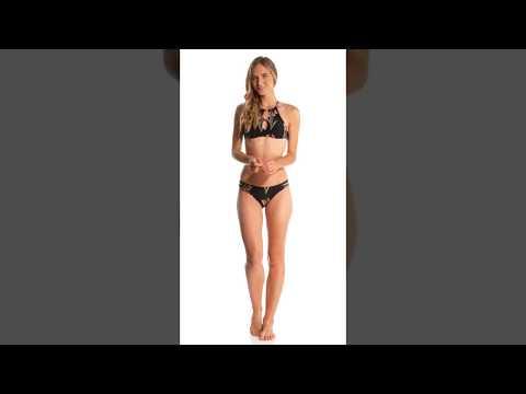 822015851b0d8 O'Neill Farah High Neck Halter Bikini Top   SwimOutlet.com - YouTube