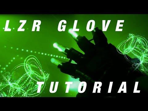GloFX Brand USA Light Show LZR Lazer Glove Set Pro Lightshow Laser Gloves