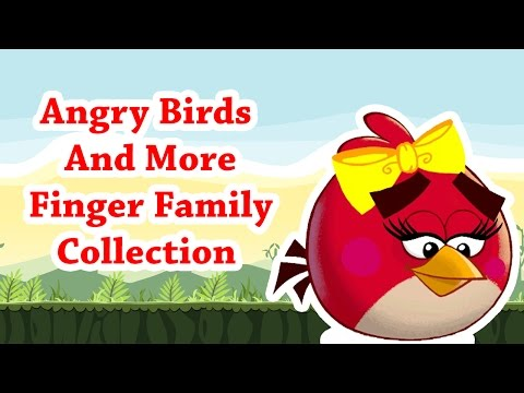 Angry Birds And More Cartoon Animated Finger Family Collections For Kids