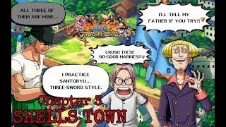 One Piece: Treasure Cruise Luffy y Zoro vs Helmeppo y Capitán Hacha Morgan (OPTC juego)