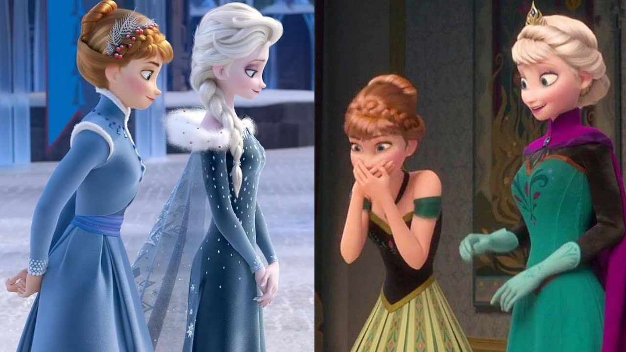 Elsa and Anna Sister ❤ LOVE ❤ Disney Princesses 💙 Tiktok videyos compilation 🤩😍🙏🥰 #1 #shorts