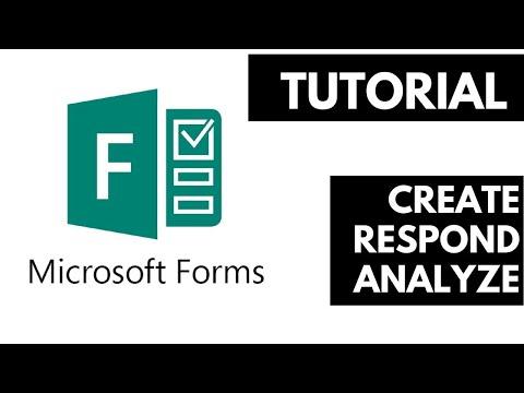 Microsoft Forms | 2018 Full Tutorial