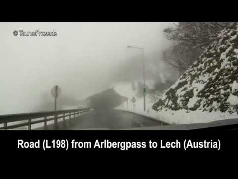 Road L198 from Arlbergpass to Lech - Austria
