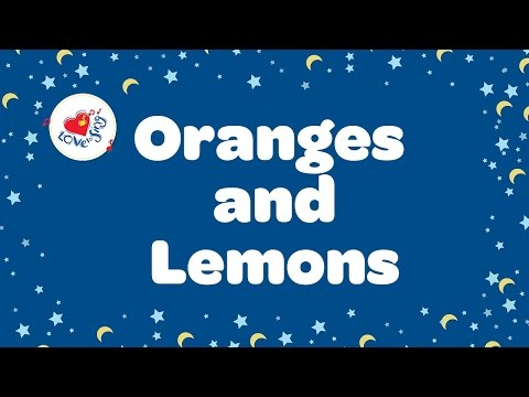 Oranges and Lemons Lyrics | Nursery Rhyme | Children Love to Sing