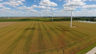 Windmill Farm Drone Video