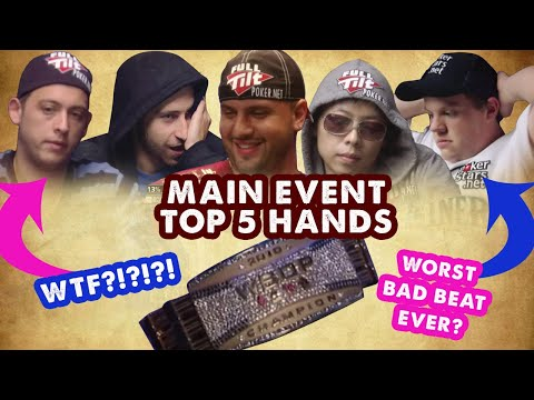2010 WSOP Main Event - Top 5 Hands | World Series Of Poker