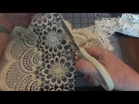 Tutorial: How To Turn Vintage Curtains Into Laces & Appliques! Part 2 of 2)