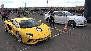 Lamborghini Aventador S vs Audi RS6 Avant - DRAG RACE!