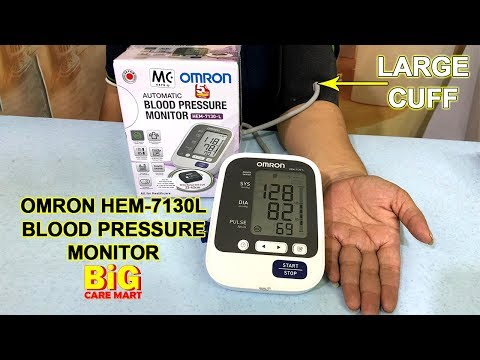 omron-hem-7130l-blood-pressure-monitor-large-cuff-for-larger-arms-(unboxing-video/how-to-use)
