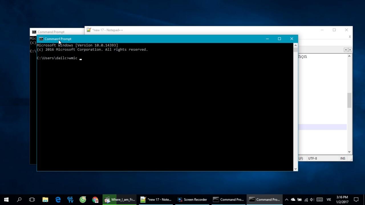 Hướng Dẫn Xem Tên Và Serialnumber Máy Tính Trên Windows Bằng Lệnh cmd