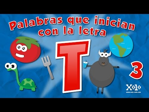 Words that automatically start with the letter T in Spanish for children - Videos Aprende