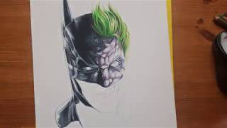 Let´s Draw Batman/Joker Face