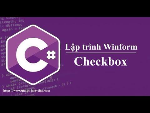 Lập trình C# winform - Checkbox