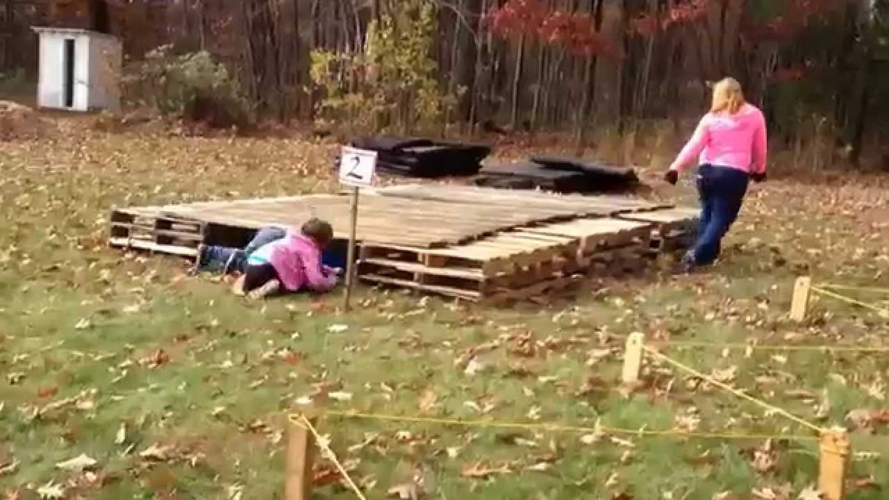 American Ninja Warrior Homemade Backyard Obstacle Course Youtube