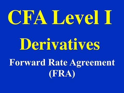CFA Level 1- Derivatives- Forward Rate Agreement