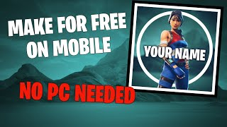 How to make FORTNITE LOGO for FREE on mobile (Android/IOS)