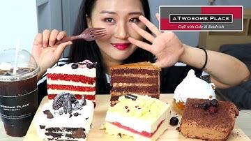 투썸플레이스 케이크 6종 리뷰 먹방💕 6 kinds of Korean cafe cake Mukbang