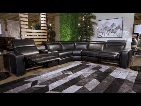 Mantonya Midnight Power Reclining Sectional With Console From Signature Design By Ashley