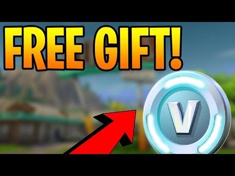 Free Gift From Fortnite Epic Games Free V Bucks Or Free