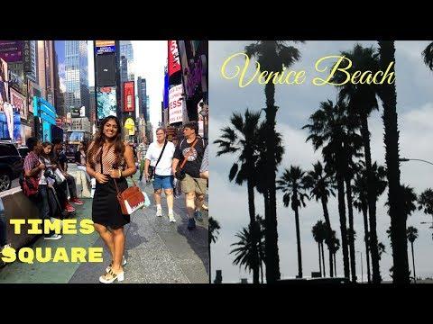 East to West - Times Square & Venice Beach Travel Vlog | Nakhrebaaz