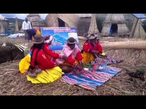 The Uros, live in floating island