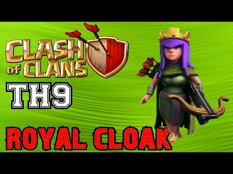 Clash of Clans TH9: Archer Queen Royal Cloak Ability Unlocked & Townhall 9 Progress!
