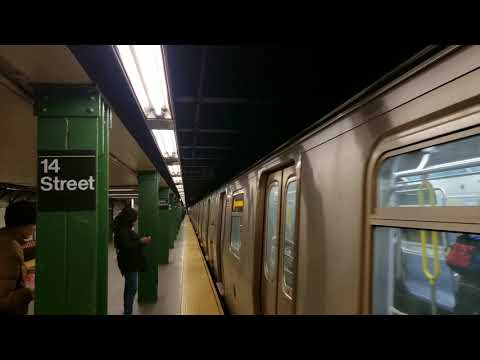 MTA NYC Subway: Uptown (N) (Q) (R) (W) Trains With New Rail Sounds/Testing At 14 St - Union Square