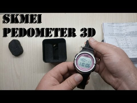 skmei pedometer 3D Calorie Counter Heart Rate Monitor Pulse Fitness Sport Watch