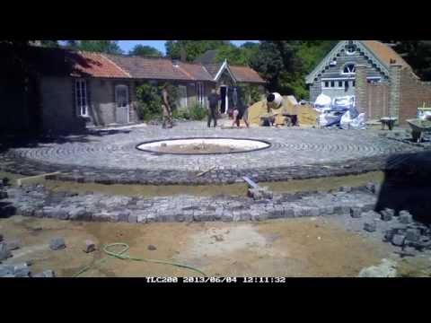 granite setts reclaimed laid in courtyard 600m2 plus